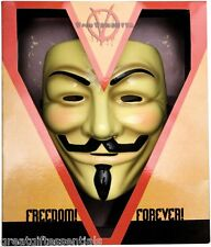 V FOR VENDETTA MASK Costume DELUXE Guy Fawkes Anonymous LICENSED collectable NEW