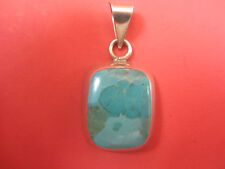 Torquise & Sterling Silver  Modern Pendent Marked 925 Hand Made Original