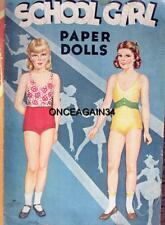 Vintage Uncut 1942 School Girls Paper Dolls~#1 Reproduction~Orig Size~Scarce