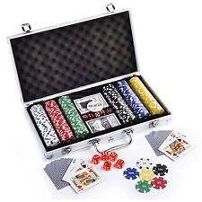 Casino Chip Card & Poker Set 300pcs with Lockable Alluminium Carry Case