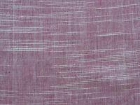 "Ikat Fabric. Hand Spun & Hand Woven Cotton. Rose & White Homespun. 45"" wide."