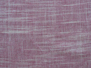 "Ikat Fabric. Hand Spun & Hand Woven Cotton. Rose & White Homespun. 45"" wide."