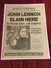 John Lennon Killed  - Beatles - 1980 New York Daily News Newspaper