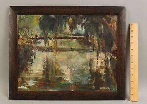 Original TOMMY NICHOLAS Florida Southern Spanish Moss Impressionist Oil Painting