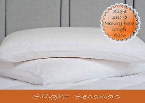 Premium Single Traditional Memory Foam Pillow - Slight Seconds