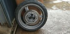1997 KAWASAKI ER5 1996-2000 F-1364 FRONT WHEEL, DISC AND TYRE + SPINDLE