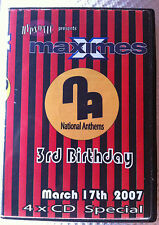 Maximes National Anthems 3rd Birthday 4 x CD pack bouncy scouse house donk RARE