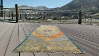 "Beautiful Vintage 1950-1960's Natural Dye Wool Pile Oushak Runner Rug 3'1""x9'8""'"