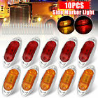 10x Amber Red 6 Led Side Marker Clearance Lights Waterproof For Trailer Truck Rv