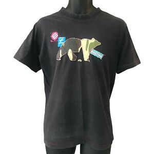 Ezekiel Men's T Shirt Medium Black Bear Logo Embroidered