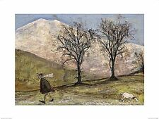 DOG ART PRINT Walking with Mansfield Sam Toft 25x16