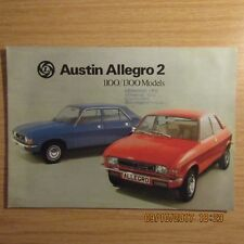 AUSTIN ALLEGRO 2 4 Door De Luxe Super 1100 1300 UK Market Sales Brochure 1976