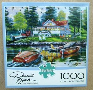A 1000 PIECE JIGSAW PUZZLE BY BUFFALO GAMES - COTTAGE RETREAT