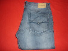 Mens Guess McCrae Fit Ultra Slim Blue Jeans size 36 X 32