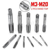 2X M3-M20 0.5-2.5mm Pitch HSS Right Hand Screw Straight Thread Tap Taper Metric