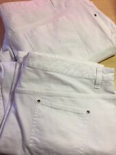 CJ Banks Size 26 plus women's stretch WHITE jeans wide leg 2 pairs GENTLY USED
