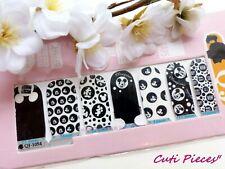 Nail Art Mickey's Black White Self Adhesive Full Nail Polish Wrap Sticker 1054w