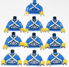 LEGO LOT OF 10 NEW BLUECOAT PIRATE IMPERIAL MINIFIGURE TORSOS BODY PARTS