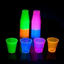 Neon Glass Cup Glow Party Blacklight Glassware Fun Shot Drink Bar 40 Count Home