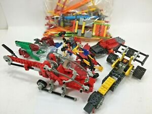 K'NEX Lot Pieces & Parts + Partially Assembled Helicopter Drag Car NOT Complete