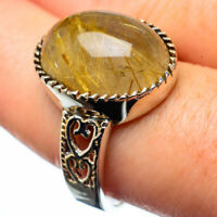Rutilated Quartz 925 Sterling Silver Ring Size 9 Ana Co Jewelry R28326F