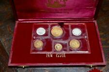Bahamas 1974 Four 4 Gold Coin Proof Set Solid 22 KT $200, $150,  $100, $50 Coins
