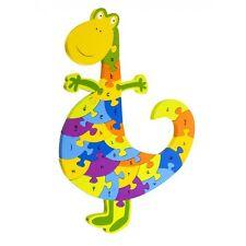 Alphabet Dinosaur Puzzle, Toy, Wooden Toy, Traditional, UK, Children