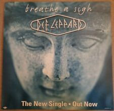 Def Leppard - Breathe A Sigh double sided record store display flat
