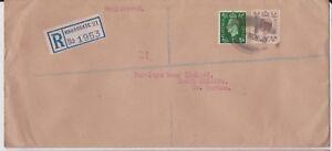 (K114-12) 1940s GB WWII 5 1/2d REG no.1953 Barclay's bank has wax seals (L)