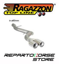 RAGAZZON TUBO POSTERIORE TERMINALI TONDI 2x80mm BMW SERIE 1 E87 123d 50.0403.26