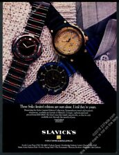 1987 Seiko Sports diving Limited Edition Collection watch photo vintage print ad