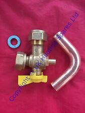 Ideal Independiente + C24 + C30 + C35 Caldera Gas Cock Pack aislamiento Válvula Kit 175526