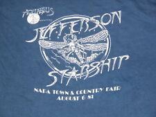 Vtg 80s JEFFERSON STARSHIP AQUARIUS Tour Band NAPA TOWN Thin Concert T Shirt L