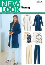 NEW LOOK SEWING PATTERN MISSES' SEPARATES JACKET SKIRT TOP TROUSERS  8 - 18 6163