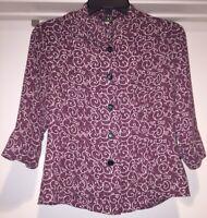 Dolce & Gabbana 3/4 Sleeve Button Up Women's Medium