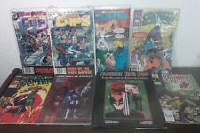 Vintage Comic Book Lot Of 8 MARVEL DC Wolverine Nick Fury xmen