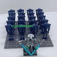 21Pcs Minifigures lego MOC SUPER Battle Droid Characters Grief General Star War