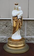 """+ Older Plaster Statue of Madonna and Child Mary Jesus + 12"""" ht. + (CA628)"""