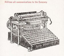 Ancillary 1906 Smith Premier 2Color San Francisco Office Letterhead NO COVER Á