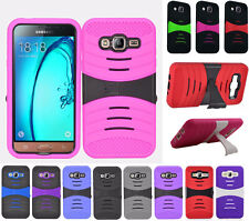 For Samsung Galaxy On5 G550 Hard Gel Rubber KICKSTAND Case Phone Cover Accessory