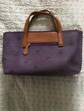 Beautiful PIERE CARDIN PARIS Purple Coated Leather Handbag Tote -size M