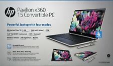 "HP Pavilion X360 Convertible Laptop 15.6"" Touchscreen 1TB Optane 15-CR0037wm"