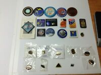 Huge Lot NASA Space Exploration 26pcs Buttons & Pins Mars Saturn Jupiter Venus &