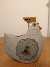 Pottery Vase Bird Chicken Ceramic Studio Retro Vtg German Danish Scandinavian