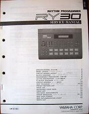 Yamaha RY30 Drum Machine Rhythm Programmer Original Service Manual Booklet