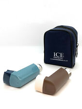 Blue ICE Medical 2 Inhaler Medication Bag Case (Small) - Asthma, Travel, Home