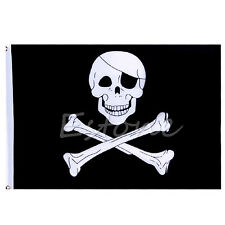 90*150cm Pirate Skull And Crossbones Flag Jolly Roger Hanging With Grommets