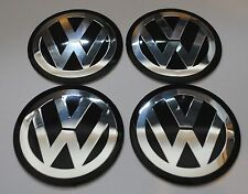 VW Wheel Hub Caps Badge Emblem Stickers METAL 65mm Set OF 4 GOLF BIG LARGE!