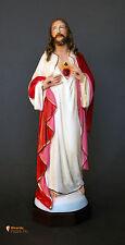 Statua Sacro Cuore di Gesù Mani al Petto 30cm