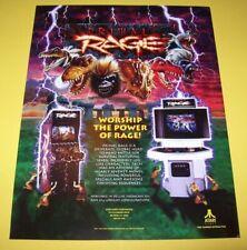 Primal Rage Arcade Game FLYER Original NOS Video Art Advertising Sheet 2 Sides
